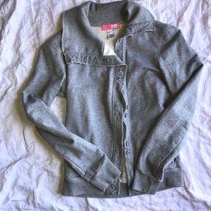 Lux Anthropologie sweatshirt cardigan small XS
